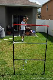 Golf Net For Backyard by Title U003e How To Make Your Own Ladder Golf Game U003c Title U003e Sew Woodsy