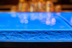 Silver Reef Casino Buffet by Dramatic Blue Glass Bartop At Silver Reef Casino By Nathan Allan