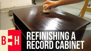 Record Player Cabinet Plans by Refinishing A Record Cabinet Youtube