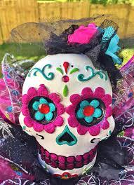 Sugar Skulls For Sale Sale Colorful Lady Skull Dia De Los Muertos Sugar Skull Day Of