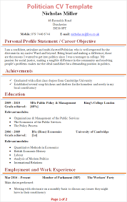 Sample Journalist Resume by Politician Cv Template Tips And Download Cv Plaza