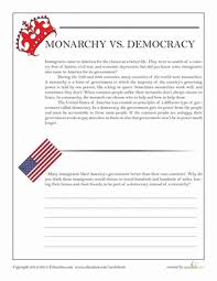 monarchy vs democracy worksheet education com