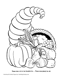 thanksgiving coloring pages cornucopia fall harvest thanksgiving