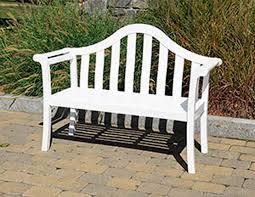 white garden bench treenovation