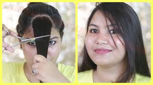 how to cut your own hair at home side swept bangs