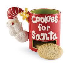 naughty u0026 nice santa cookies plate and mug set home designing