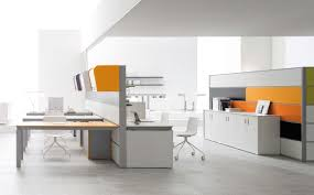 Beautiful Office Desks Stylish White Modern Office Desk With Chairs And File Cabinets In