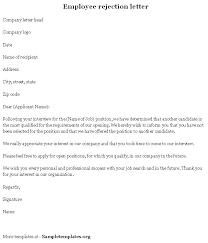 Rejection Letter To Candidate sle rejection letter candidate rejection letter best