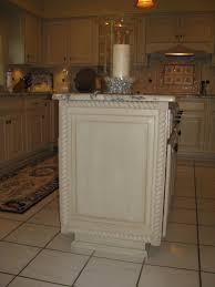 kitchen cabinet ends added trim and rondells to ends of base cabinets my