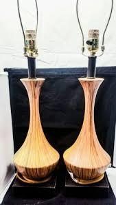 Gourd Table Lamp Vintage Retro Mid Century Modern Drip Glaze Ceramic Gourd Table