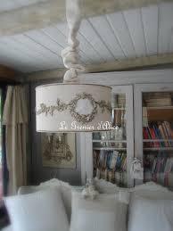 abat jour romantique chambre abat jour suspension monogramme ornement shabby chic et romantique