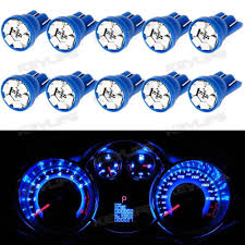 xe lexus lx450 10x blue led instrument panel lights t10 194 dashboard lamp for
