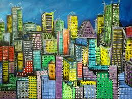 the city unfolds e2 80 93 maria curcic fine artist abstract canada