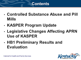 cabinet for health and family services lexington ky kasper update david r hopkins kasper program manager office of