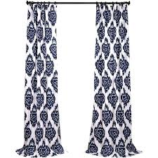 navy ikat curtains full image for blue and orange kitchen curtains