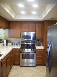 recessed lighting kitchen house living room design