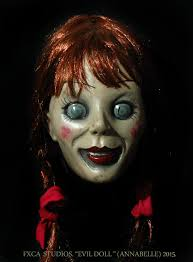 Evil Doll Halloween Costume Annabelle Evil Doll Deluxe Latex Mask Conjuring Scary