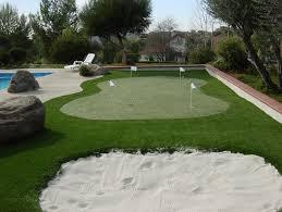 backyard putting green artificial turf backyard and yard design