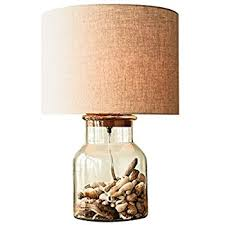 fillable clear glass table lamp glass lamps to fill amazon com