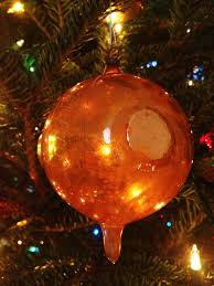 german glass ornament the accidental peach