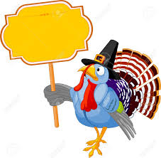 picture of thanksgiving turkey illustration of a thanksgiving turkey holding a blank board sign
