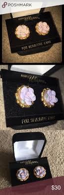 simply whispers earrings vintage simply whispers purple flower earrings sensitive ears