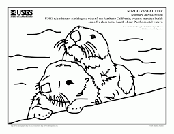 o is for otter coloring page coloring home