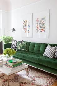 living room with green sofa deksob com