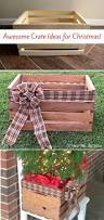 9 gorgeous ways to use a plain wooden crate for christmas wooden