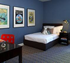 Boy Furniture Bedroom Blue Room Black Furniture Via Cool Boys Cityhaüs