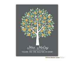 printable teacher gift present students names apple tree