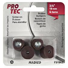 pro tec on rubber surface savers brown 19mm 4pk madico