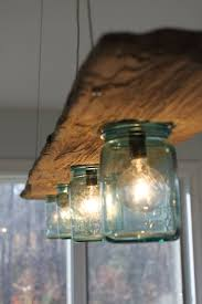 Driftwood And Antique Jar Hanging Light Home Decor Pinterest