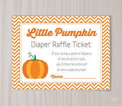baby shower raffle baby shower raffle tickets template now pumpkin