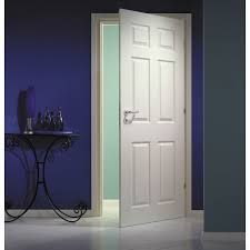 moulded 6 panel textured semi solid internal door