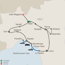 Milan Italy Map Cinque Terre Tours With A Lake Maggiore Tour Globus
