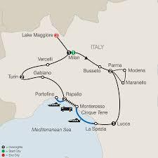 Cinque Terre Map Cinque Terre Tours With A Lake Maggiore Tour Globus