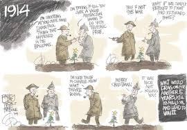 bagley cartoon christmas truce 1914 the salt lake tribune