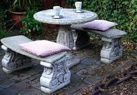 cement table and bench cement garden table cement garden table and benches concrete garden