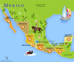 regions of mexico map mexico gms tech curriculum development