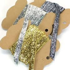silver glitter ribbon metallic glitter ribbon gold silver or grey pipii