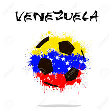 Venezuela Flag Colors Abstract Soccer Ball Painted In The Colors Of The Venezuela Flag