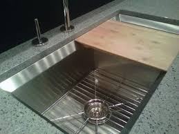 Cutting Board Kitchen Island Kitchen Sinks Undermount Sink With Cutting Board Square Polished