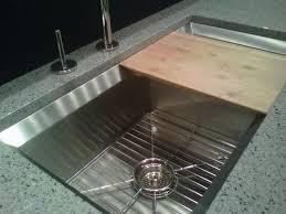 kitchen sink with cutting board trendyexaminer