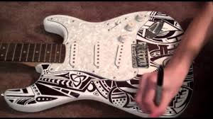 sharpie guitar time lapse youtube