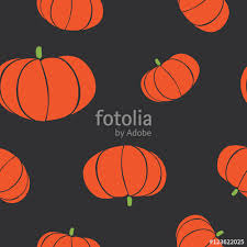 isolated abstract orange color pumpkin seamless texture black