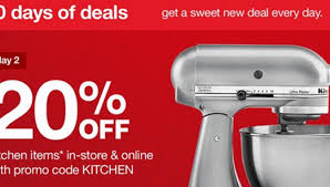 target black friday deals online offers 20 off kitchen items in 10 days of black friday deals