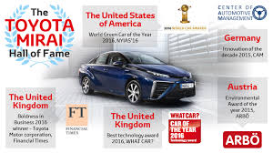toyota motor corporation toyota mirai awards