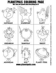 Planetpals Exclusive Free Eco Friendly Green Coloring Activities Green Coloring Page