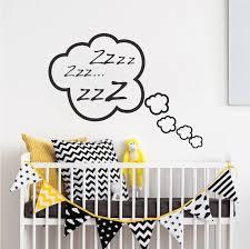 Wall Bedroom Stickers Snoozing Cloud Bedroom Decal Zzz Sticker Murals Kids Cloud